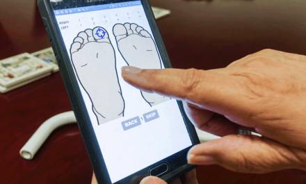 Crean un sensor de pie diabético para medición en casa.