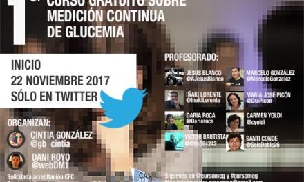 Primer curso sobre medición continúa de glucemia en Twitter