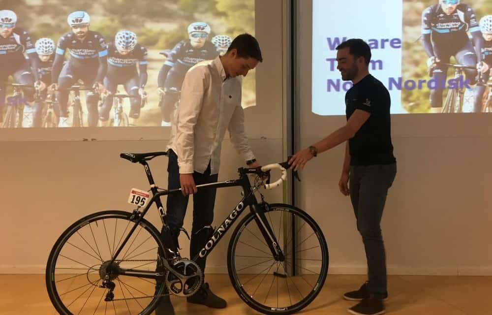 Un joven español con diabetes, ganador mundial de una bicicleta del Team Novo Nordisk