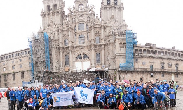 "300 peregrinos con diabetes culminan el reto ""Camina por la diabetes"""