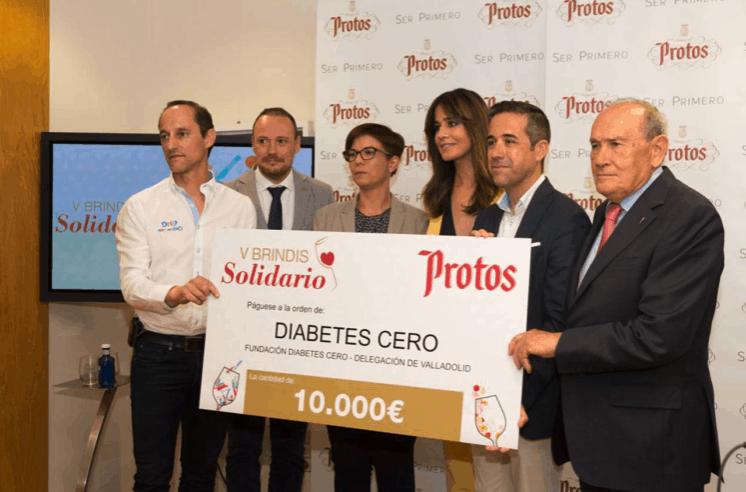 Bodegas Protos dona 10.000 euros para la investigación en diabetes