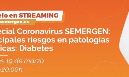 Semergen organiza directo sobre coronavirus y diabetes
